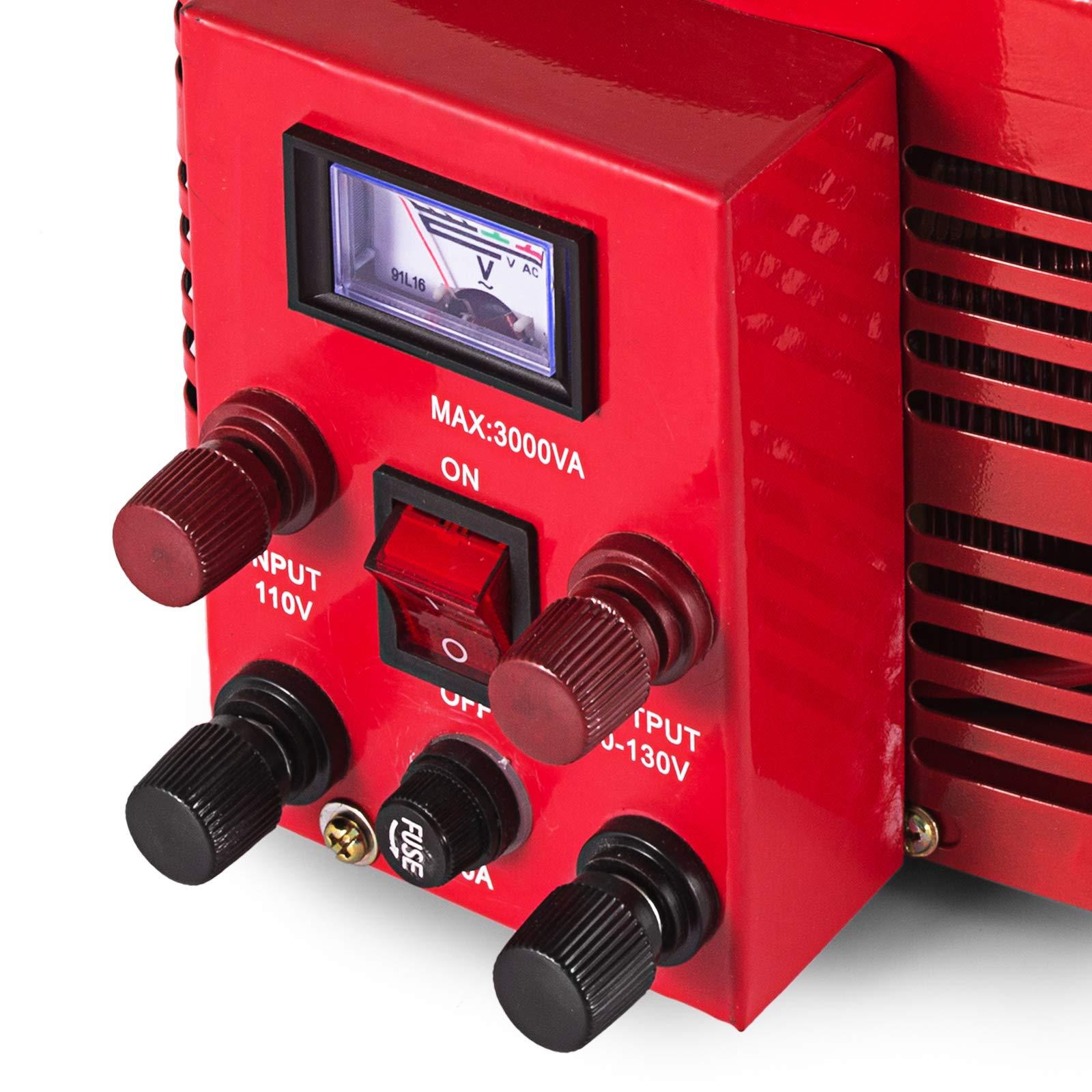 VEVOR 3KVA Transformer Max 30 Amp Variable Transformer 0~130 Volt Output Variable AC Voltage Regulator for Industries Equipment Appliances by VEVOR (Image #8)