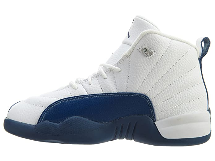 online store a7c36 8714d Amazon.com   Jordan Nike 12 Retro BP White Silver Red FrenchBlue 151186-113    Sneakers