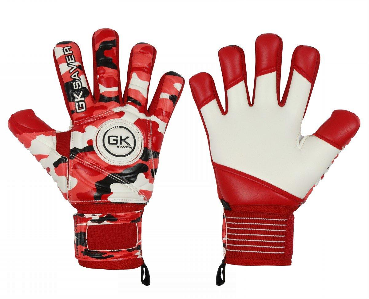 GKセーバーサッカーゴールキーパーGoalie迷彩レッド負カットGoalie Gloves Kids FS B07C9VYJM9 Size 7|NO Fingersave NO Personalization NO Fingersave NO Personalization Size 7