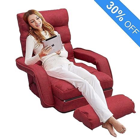 Amazon.com: Sofá silla plegable Lazy, sofá tumbona Aprox ...