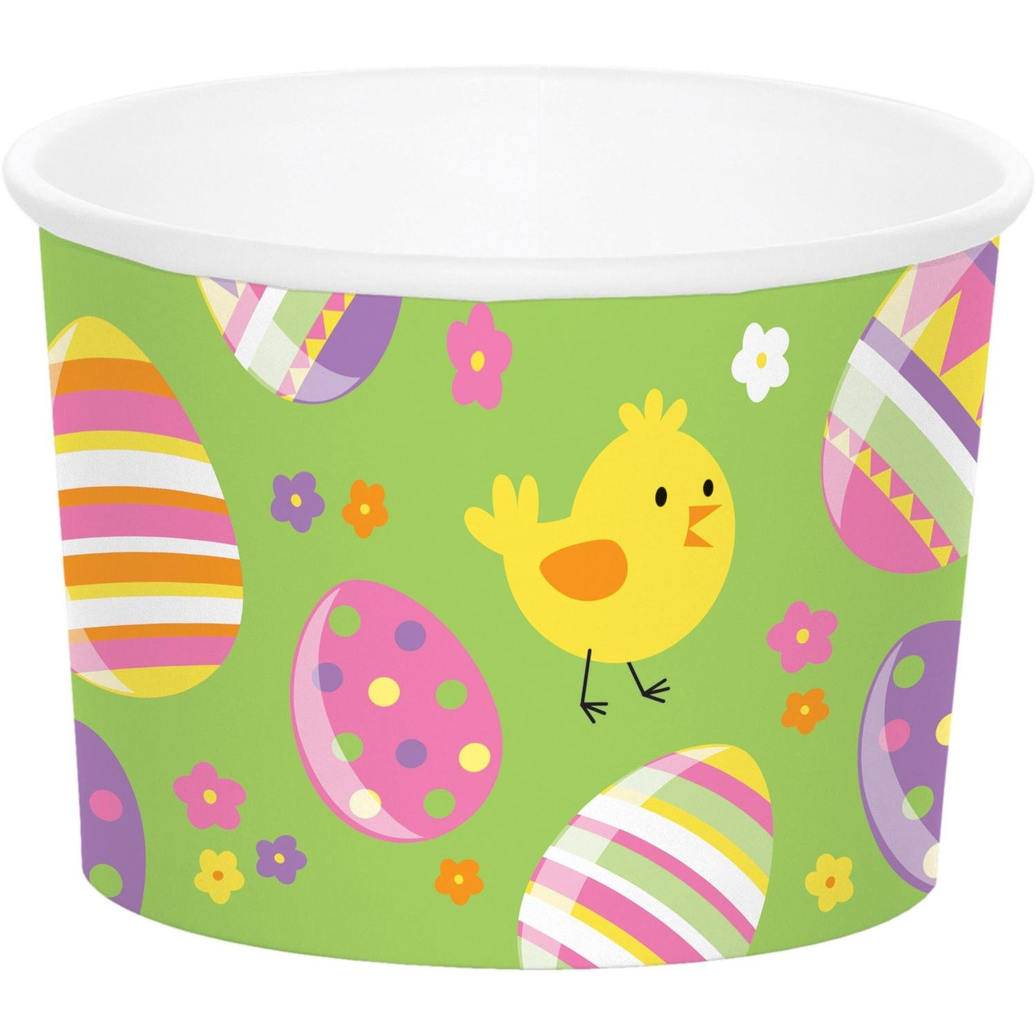 Pack of 72 Green and Yellow Easter Egg Themed Cylindrical Tea Cup 8.5''