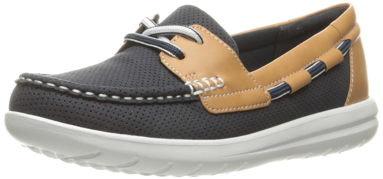 CLARKS Women's Jocolin Vista Boat Shoe B01IAWL2VA 8 B(M) US Navy Perforated Textile