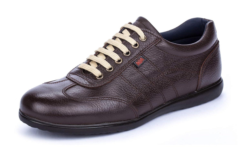 TALLA 42 EU. DCalderoni Aneto Chocolate Zapatos Marrones De Piel Casuales con Cordones para Hombre 40-50 EU