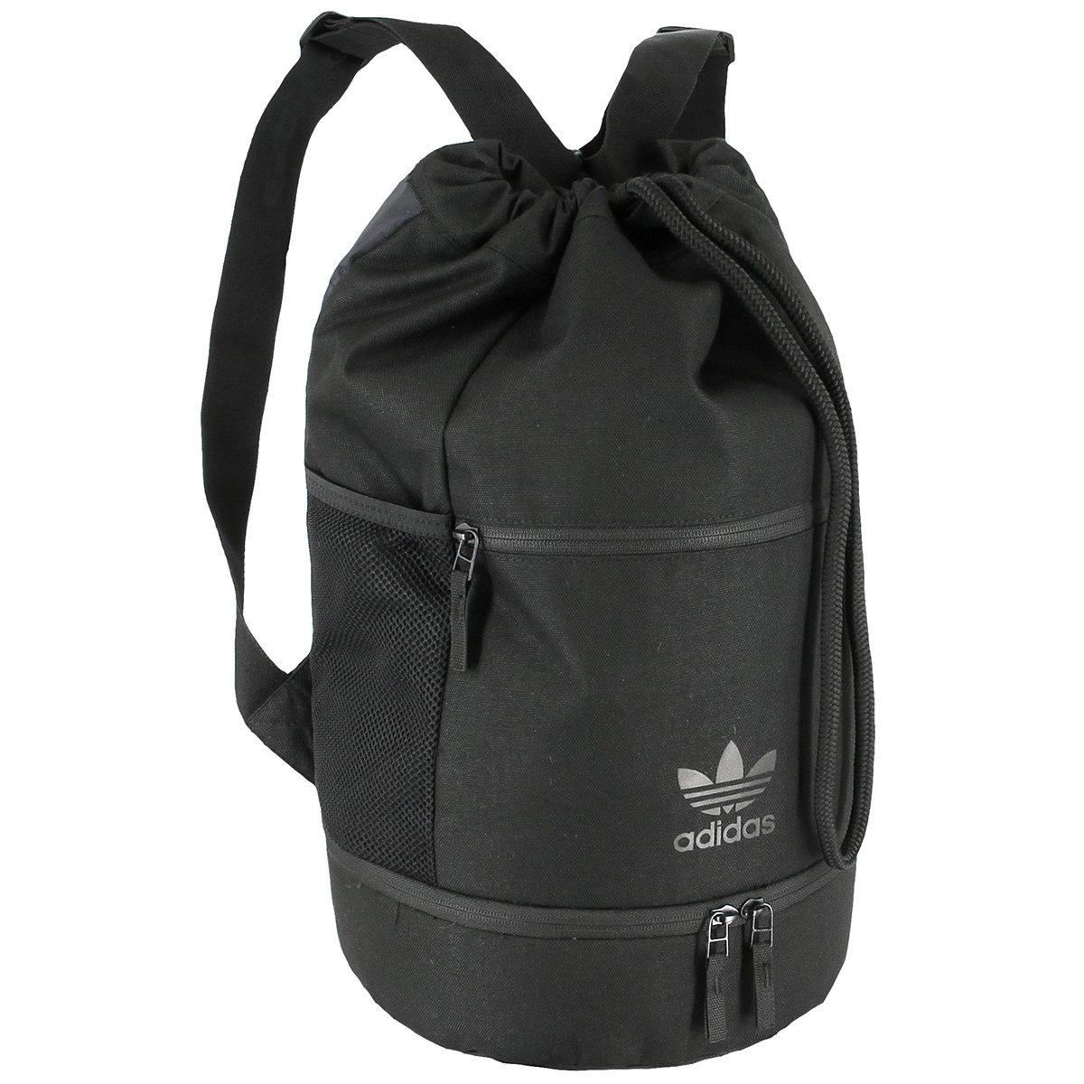 8f13bd51566 Amazon.com: adidas Originals SL Bucket Backpack, Black/Black, One Size:  Sports & Outdoors
