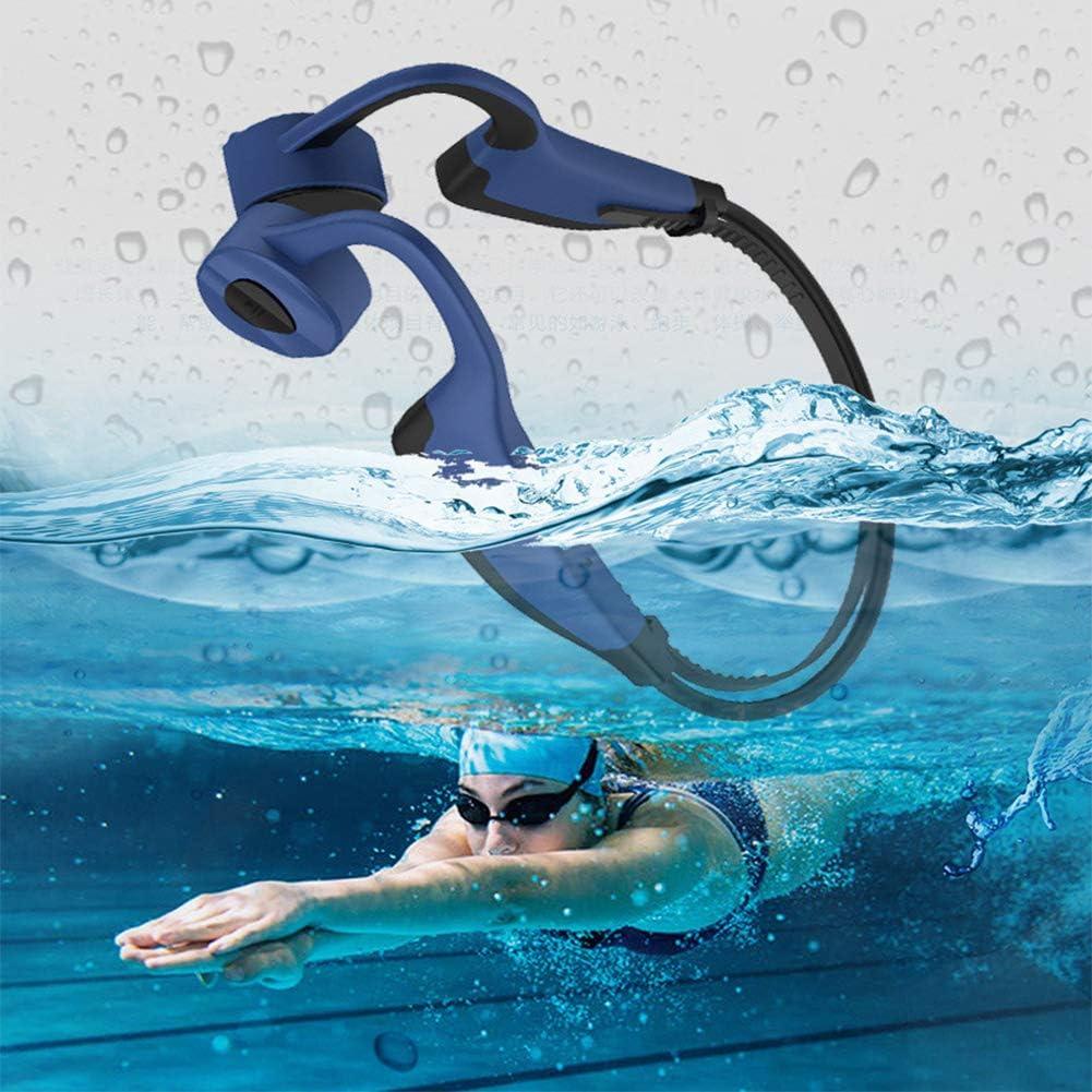 DevileLover Auriculares de Conducción ósea IP8 a Prueba de Agua con Micrófono y MP3https://amzn.to/3gI070b