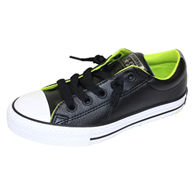dfaa62d173ae CONVERSE JUNIOR TRAINERS CHUCK TAYLOR ALL STAR STREET SLIP BLACK SNEAKERS   Amazon.co.uk  Shoes   Bags