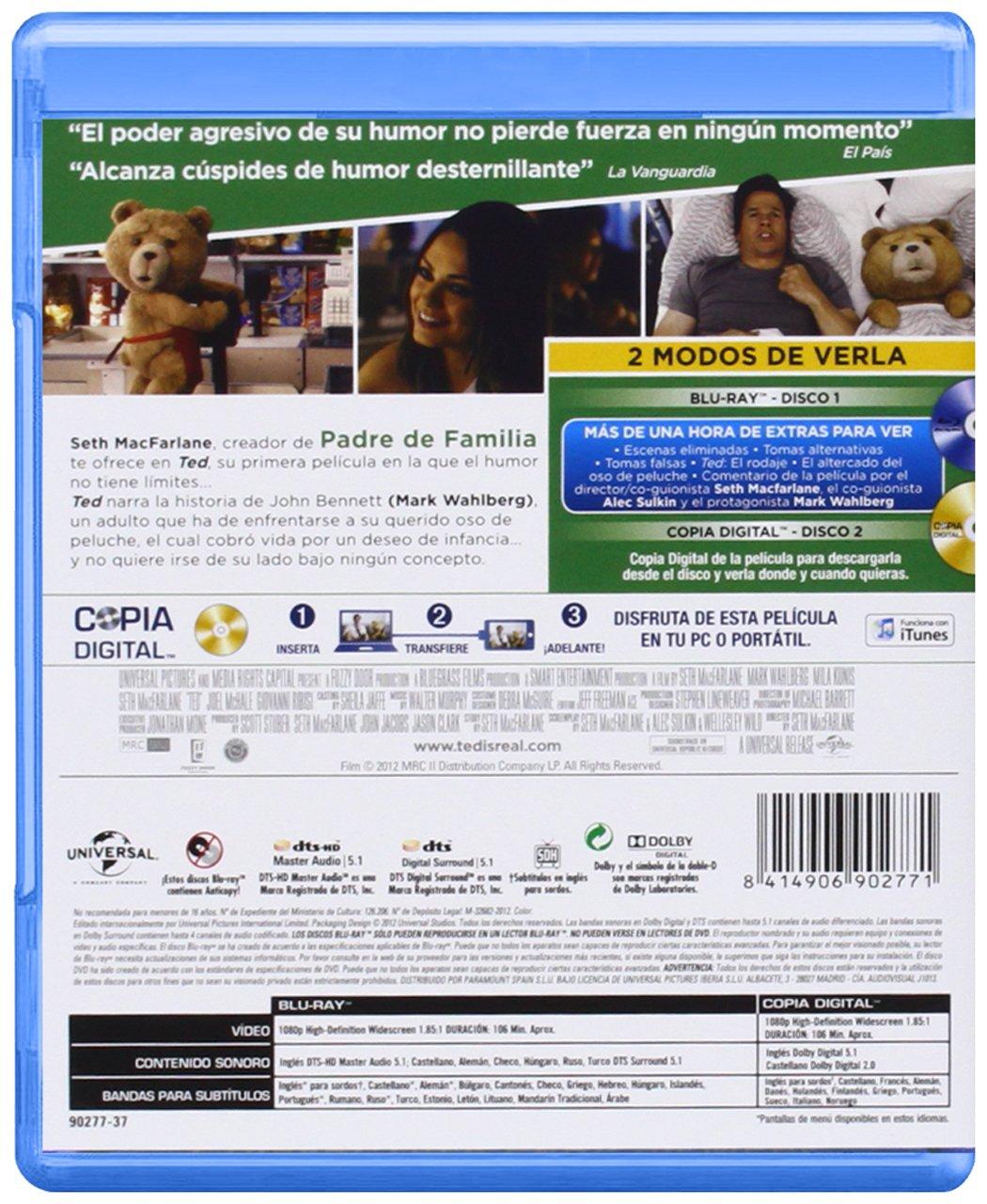 Amazon.com: Ted (Blu-Ray) (Import Movie) (European Format - Zone B2) (2013) Mark Wahlberg; Mila Kunis; Seth Macfarlane; Gi: Movies & TV