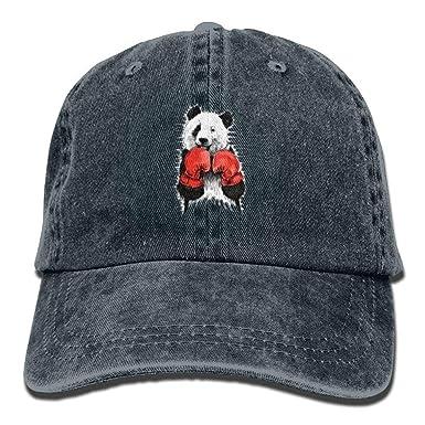 F. Twiggs Panda Boxing Denim Hat Adjustable Men s Tactical Baseball ... dc27f9d7c3e