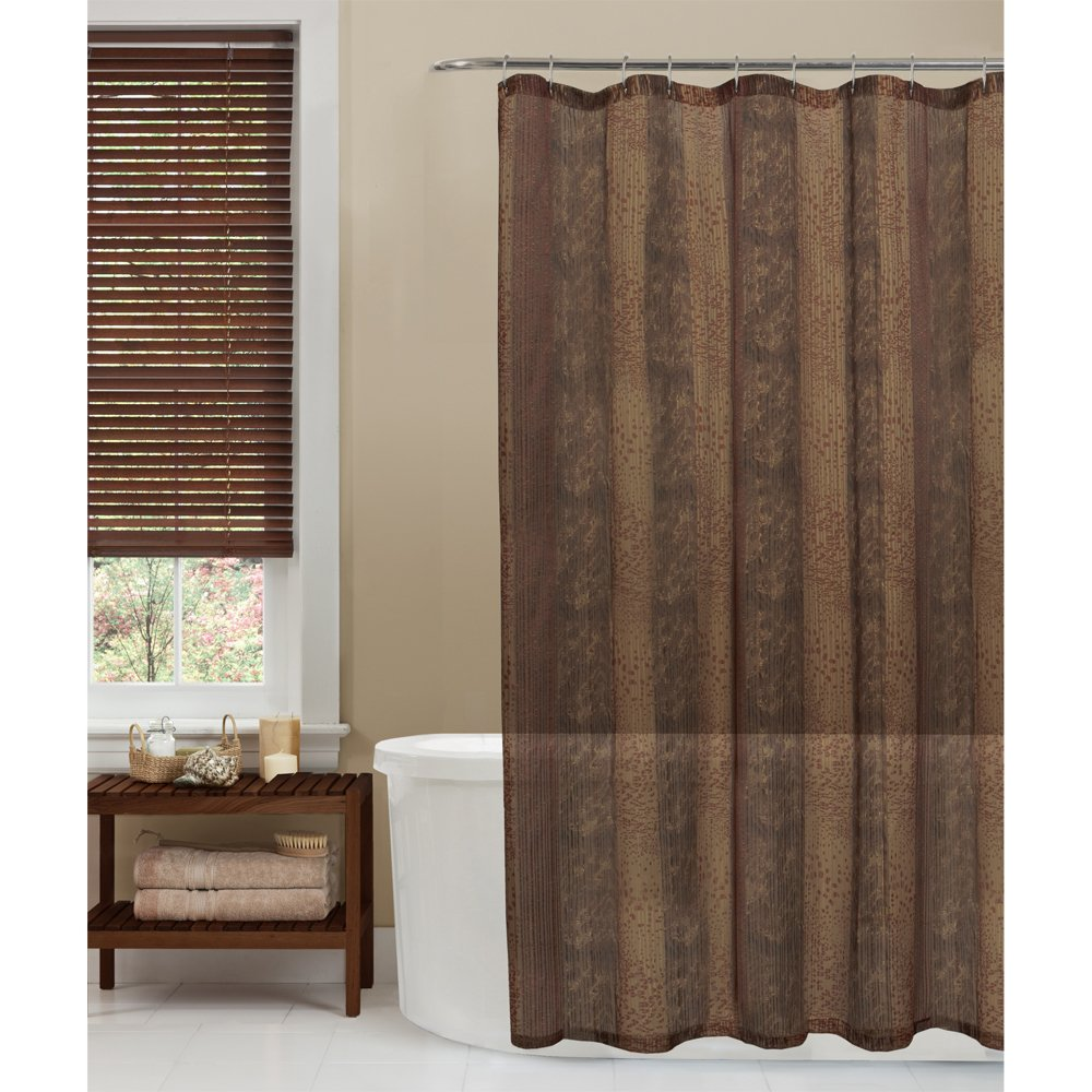 beige and brown shower curtain.  Amazon com Maytex Oneyka Fabric Shower Curtain Tan Home Kitchen