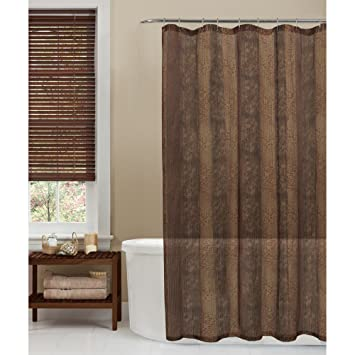 Amazoncom Maytex Oneyka Fabric Shower Curtain Tan Home Kitchen