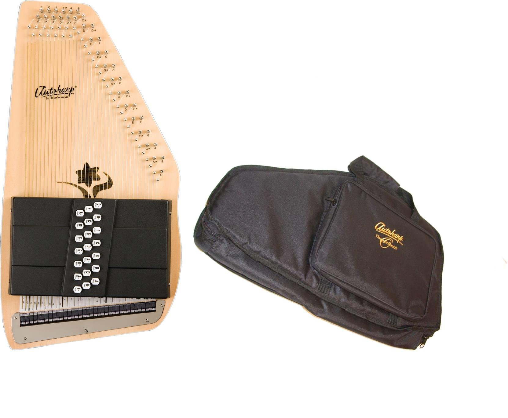 Oscar Schmidt 21 Chord Autoharp w/ Gig Bag, The ''Appalachian'', Maple Body, OS45C
