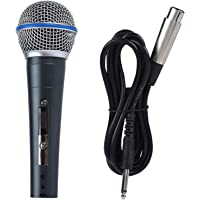 6.5mm 140dB Dynamic Wired Microphone, Single Channel Universal Hand Microphone, for Home Audio System 50Hz-18KHz KTV 2…