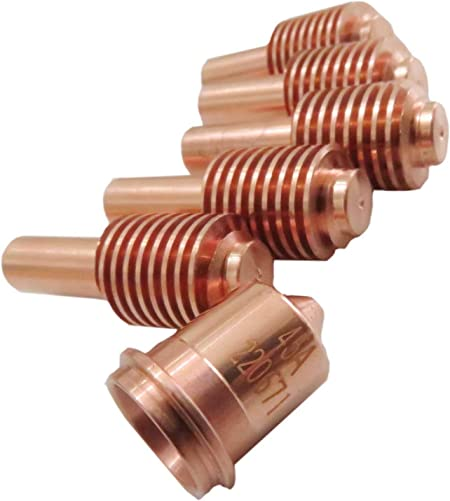 AIC 5Pcs 220669 Plasma Electrodes /& 5Pcs 220671 Plasma Tips Fit Hypertherm Powermax 45//65//85//105
