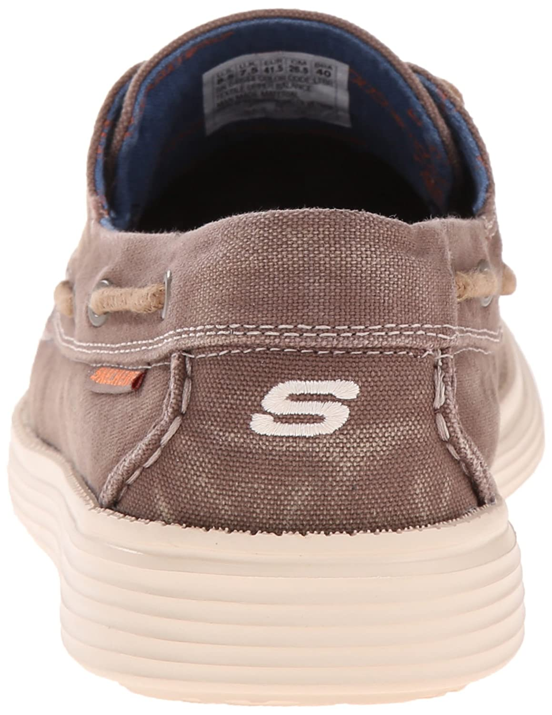 Amazon Lienzo Zapato Del Barco De Los Hombres Skechers GdGR6fCf