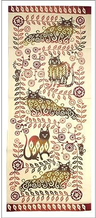 Japonés Tenugui mano teñida 100% manualidades de tela de algodón, [japonés Sakura]: Amazon.es: Hogar