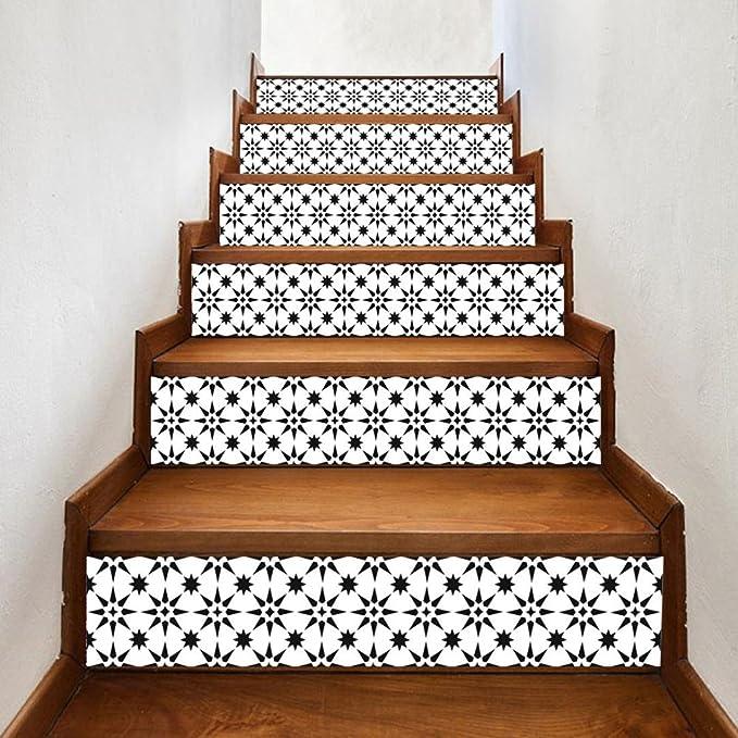 TAOtTAO - Adhesivo Decorativo para escaleras (6 Unidades), diseño de Escalera, 0.69, Color B: Amazon.es: Deportes y aire libre