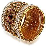 YouBella Antique Style Jewellery Gold Plated Kara Bangle for Women : Best Rakhi Gift Jewellery