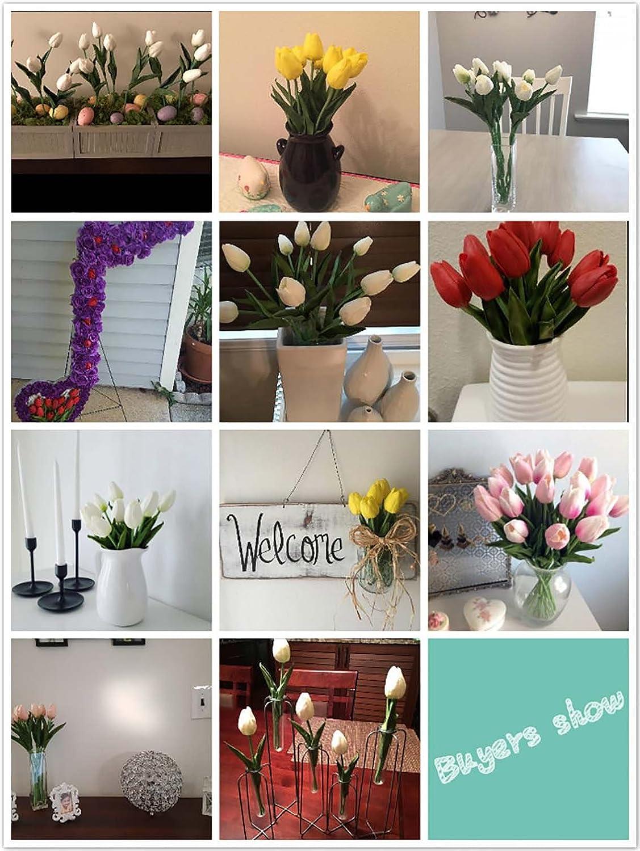 Amazon En Ge 10 Heads Home Deocr Mini Tulip Real Touch Tulip