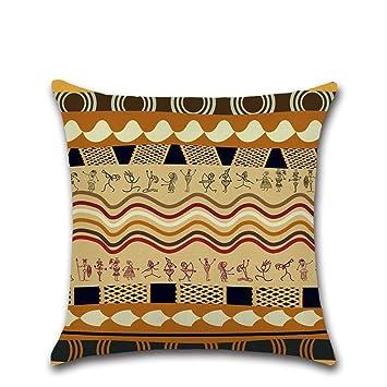 Excelsio Afrika Antike Ethnische Stil Kissen Fall Für Schlafcouch Wohnzimmer  Schlafzimmer Home Decor, Personalisierbar Quadratisch