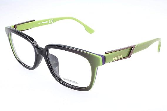 a85f42b33d13 Image Unavailable. Image not available for. Color  Diesel Rx Eyeglasses  Frames DL5111-F 095 55-17-150 Black Lime