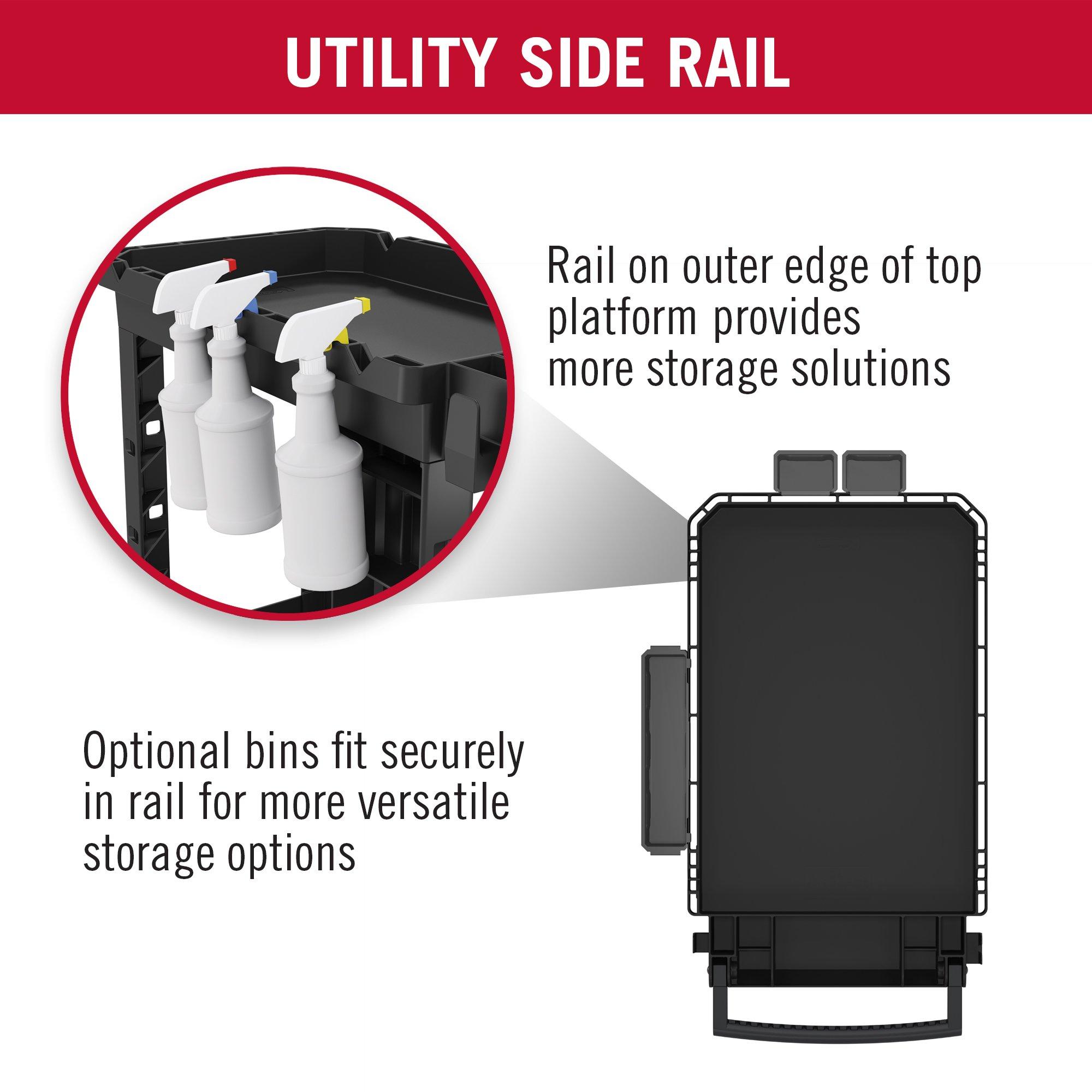Suncast Commercial PUCHD2645 Utility Cart, Heavy Duty Plus, 500 Pounds Load Capacity, Black by Suncast Commercial (Image #6)