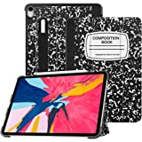 """Fintie SlimShell Case for iPad Pro 11"""" 2018 [Supports Apple Pencil 2nd Gen Charging Mode] - Lightweight Stand Cover with [Secure Pencil Holder] Auto Sleep/Wake for iPad Pro 11, Composition Book Black"""