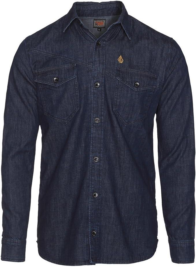 Volcom - Camiseta deportiva de manga larga para hombre