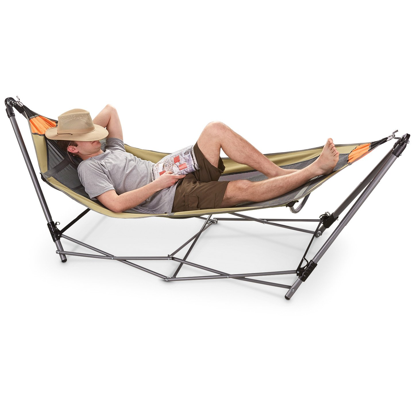 ideas folding portable spruce foldable hammock frame with set furniture porch perfect also adorable swing cloth is blue up the metal your to stand backyard