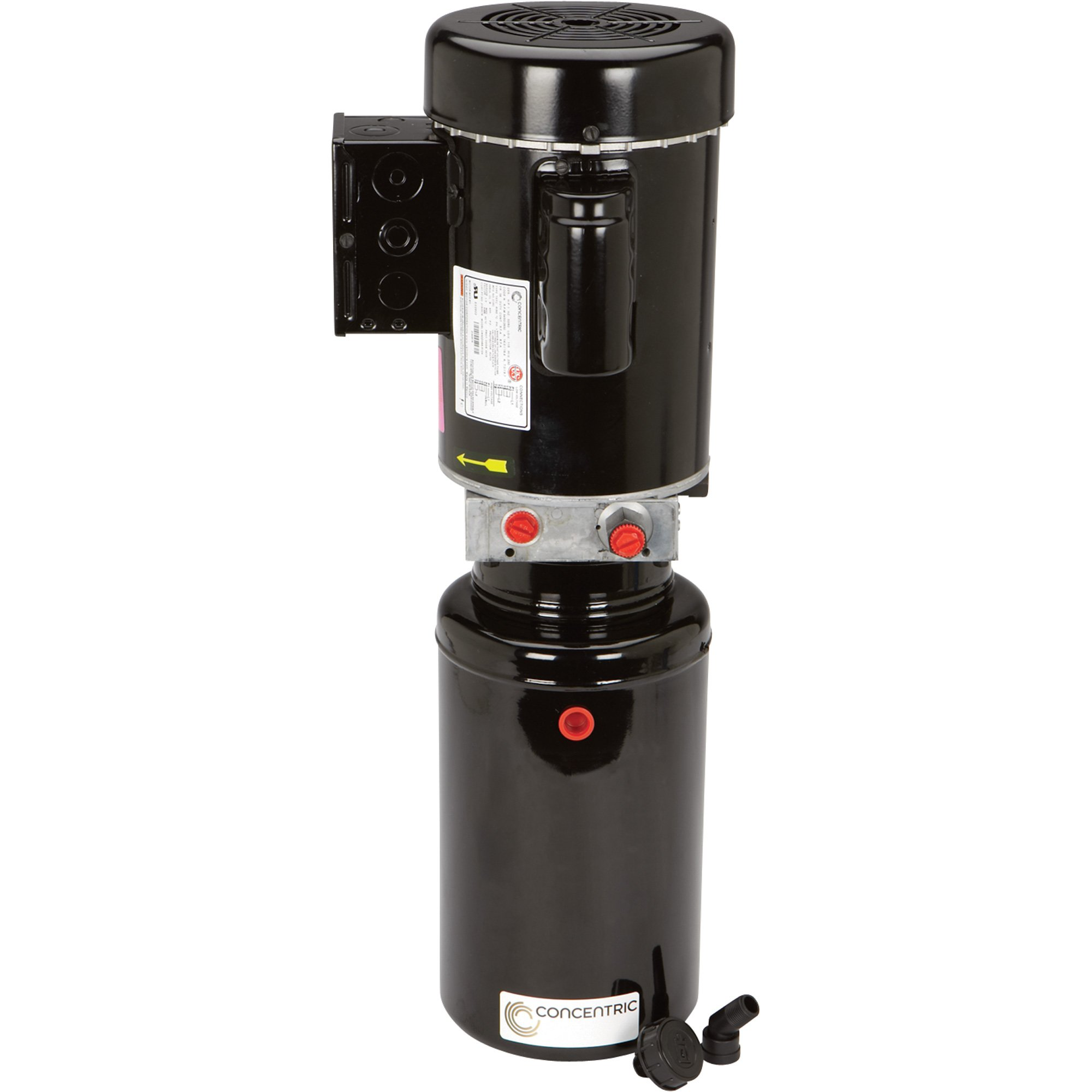 Concentric 1 HP 115/208-230 Volt AC Hydraulic Power Unit, Basic, Model# 1530036