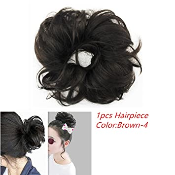 Merrylight Updo Fast Bun Elastic Messy Chignon Hairpieces For Women 0819 Brown 4