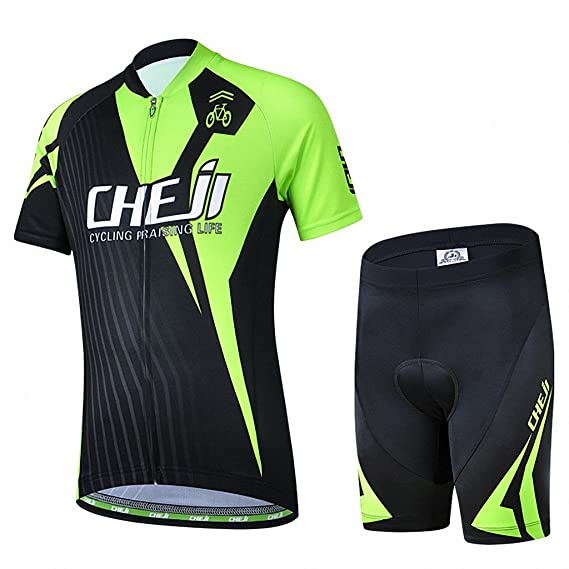 756c50684 Amazon.com   Ateid Children Boys  Girls  Cycling Jersey Set Short Sleeve  with 3D Padded Shorts Bear 4-5 Years   Sports   Outdoors