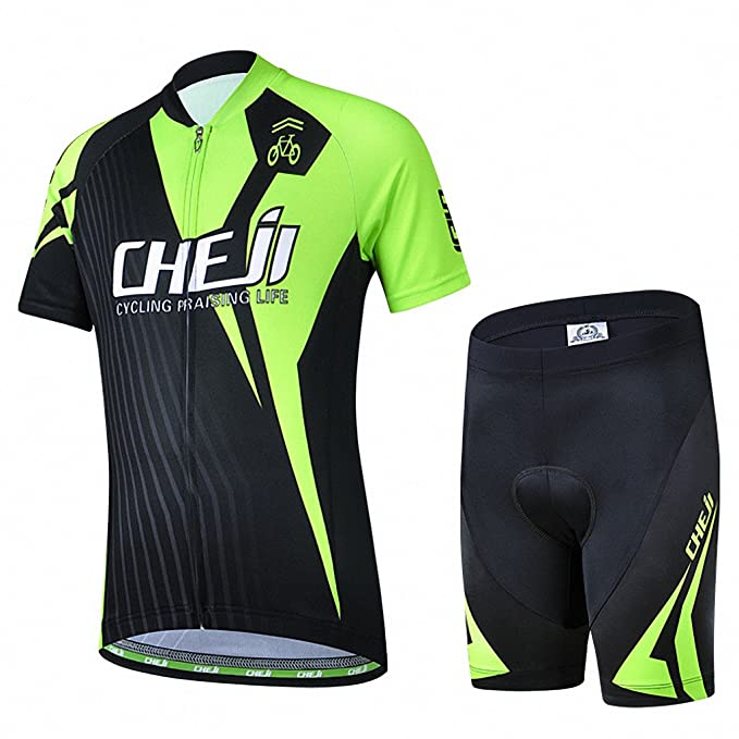 Amazon.com   Ateid Children Boys  Girls  Cycling Jersey Set Short Sleeve  with 3D Padded Shorts Bear 4-5 Years   Sports   Outdoors 1f3667bc0
