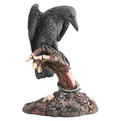 Design Toscano CL54062 The Raven's Perch Zombie Statue,Full Color,10 Inch: Home & Kitchen