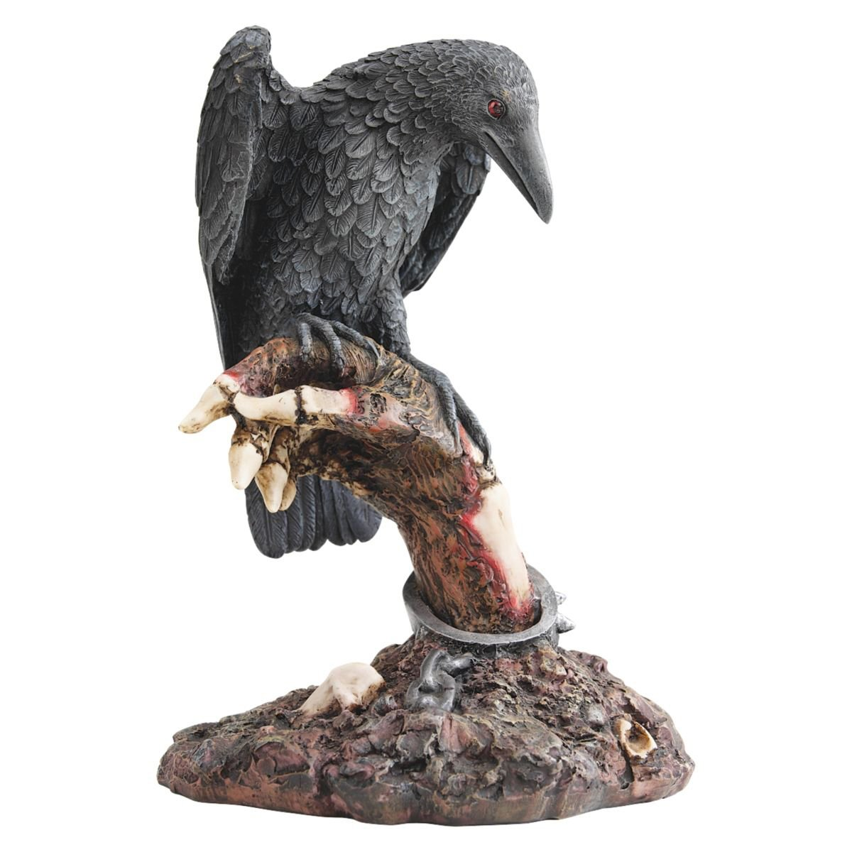 Design Toscano The Raven's Perch Zombie Statue