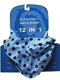 Multifunctional Headwear Polka, Black Dots on Pale Blue Background