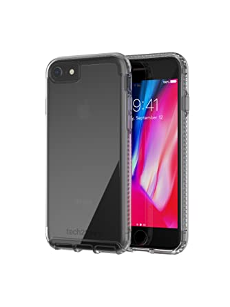 new concept 41603 37fac tech21 - Phone Case Compatible with Apple iPhone 8 / iPhone 7 - Pure Clear  - Clear