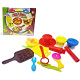 Popsugar Pizza and Pasta Making Pretend Play Dough Set with Accessories Toy for Kids