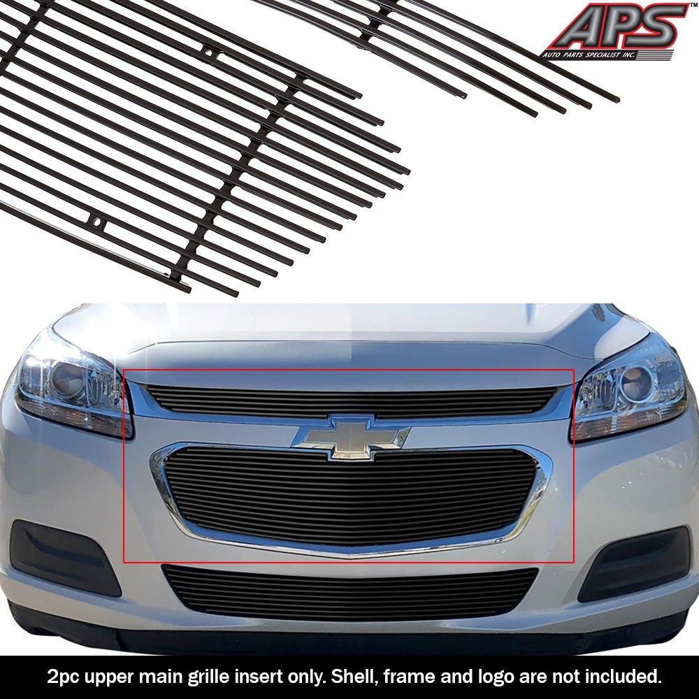 APS Fits 2014-2015 Chevy Malibu Main Upper Stainless Black Billet Grille Insert #C66340J
