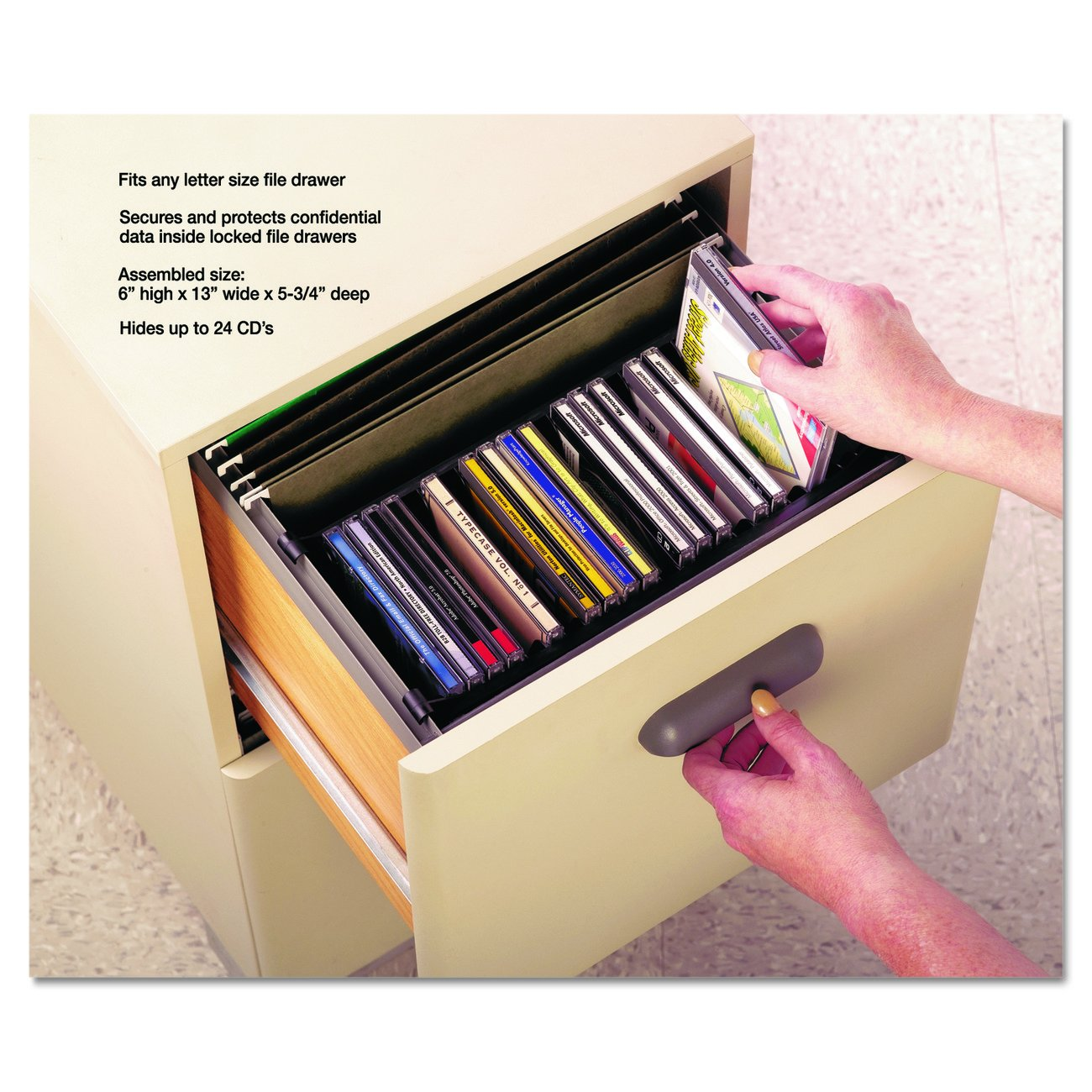 Amazon.com: Master 10300 Stor It Hide A Way Hanging CD File, 24 CD  Capacity, Black: Kitchen U0026 Dining