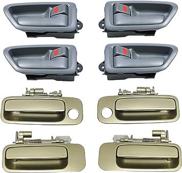 For 97-01 Toyota Camry Outside Door Handle Cashmere Beige Metallic 4M9 Rear Left