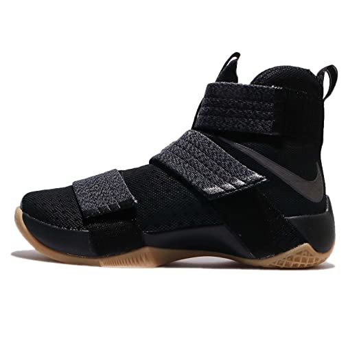 Nike Men's Lebron Soldier 10 SFG EP HK  BLACK/MTLC DARK GREY-GM YELLOW - B075DZHMCV