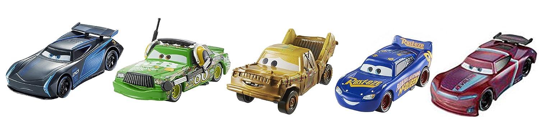 Disney FGR91 Cars 3 Die-Cast Vehicle, Pack of 5 Mattel