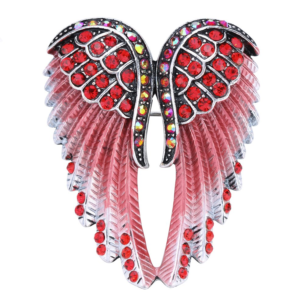 Hiddlston Crystal Guardian Angel Wing Jewelry Custom Brooch Pins for Women Hiddleston