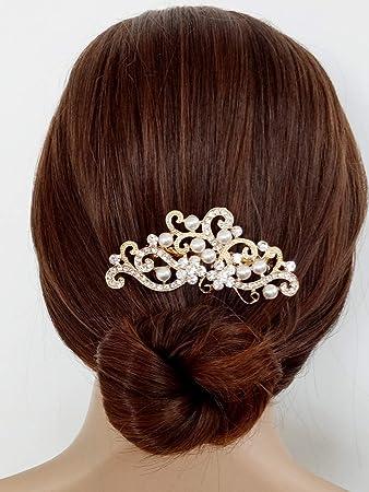 Amazon Aegenacess Wedding Hair Decorative Comb Rhinestones