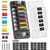 Amazon.com: 10 Way Blade Fuse Box for Automotive [ATC/ATO Blade Fuses] [100  Amp][LED Indicator] [Protection Cover] [10-30V DC; 12V] Auto Marine Fuse  Block: AutomotiveAmazon.com