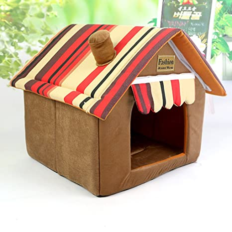 Muodu Dog House Cat Bed Designed for Small Dogs and Cats Portable Indoor Pet House
