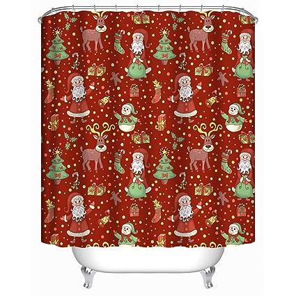 Amazon Christmas Bathroom Shower Curtains Uphome 72W X 72H