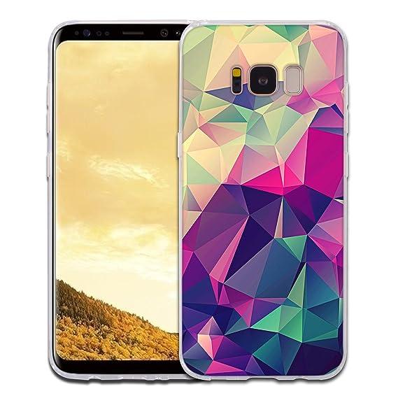 big sale a6d11 07747 Galaxy S8 Plus Case, KHKJ Fashion Design Clear Bumper Anti-Scratch TPU Skin  Cases Cover For Samsung Galaxy S8 Plus (Style:01)