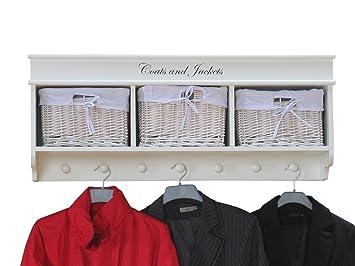 Außergewöhnlich Garderobe Mia Wandgarderobe + 3 Körbe Flurgarderobe Wandregal Regal Weiß