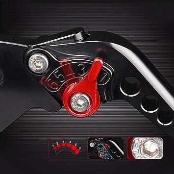 Auzkong Brems Kupplungshebel Für Kawasaki Z750 2003 2006 Zzr600 1990 2004 Ninja 650r 2006 2008 Z750s 2005 2008 Schwarz 1 Paar Auto
